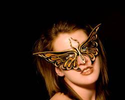 Golden Butterfly by VirtualMessiah