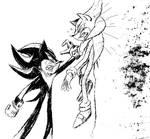 comic-fied Sonic and Shadow