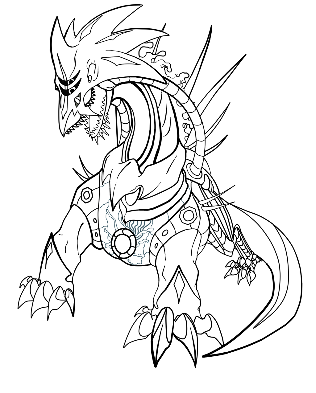 Bio metal chaos lines by fayelenefyre on deviantart for Metal sonic coloring pages
