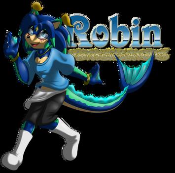 Gift: Robin the Diverhog by FayeleneFyre