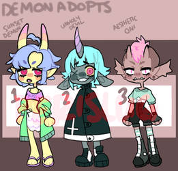 demon babes batch | 2/3 OPEN | by perislug