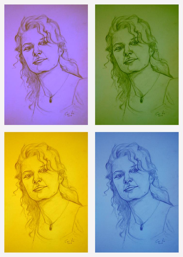 Fast portrait in Warhol's style by sai-kin