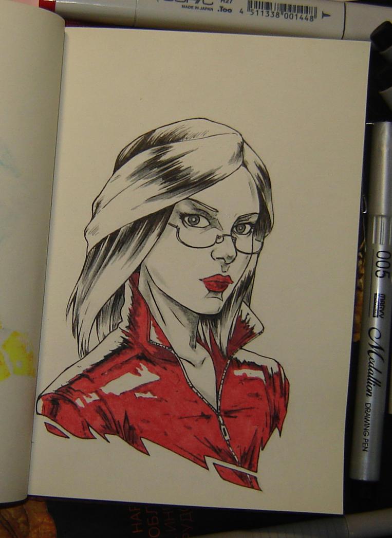 Red jacket by sai-kin
