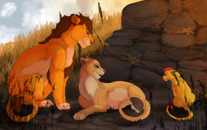 Kopa, Kiara and Kion by duchesse1997