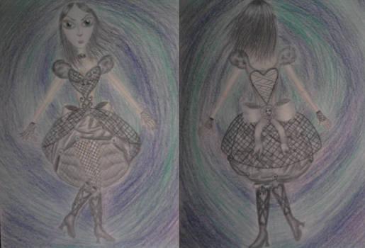 Alice Fishnet + Crystal Dress