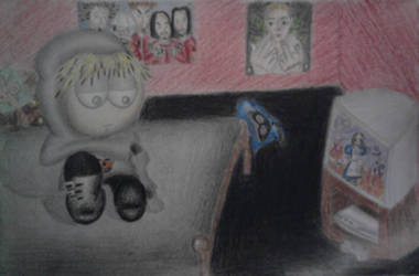 Goth Kenny doodle