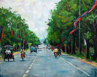 Banners of Siem Reap by emmekamalei
