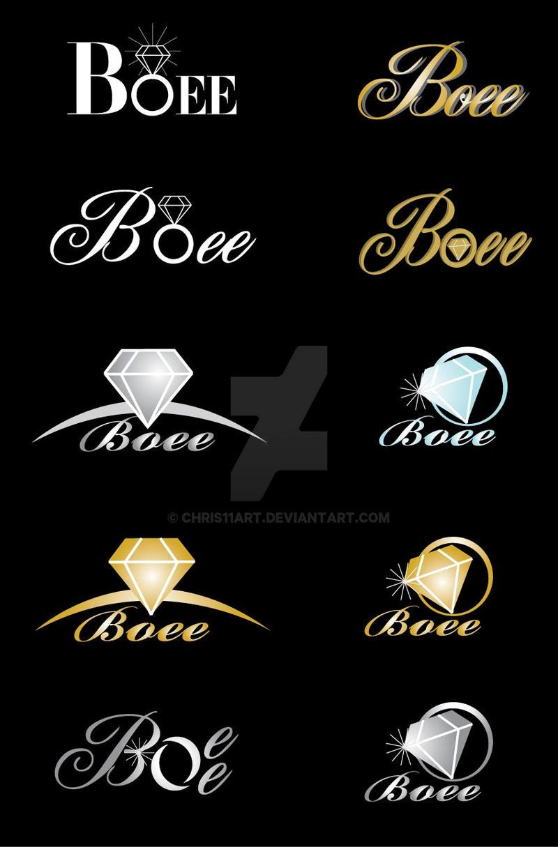 boee jewellery logo design by chris11art on deviantart