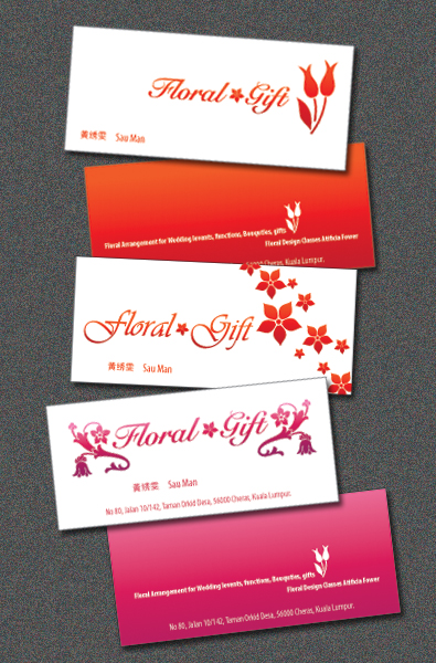 floral and gift name card by chris11art on DeviantArt