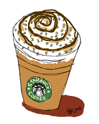 Starbucks Iced Mocha By Chris11art