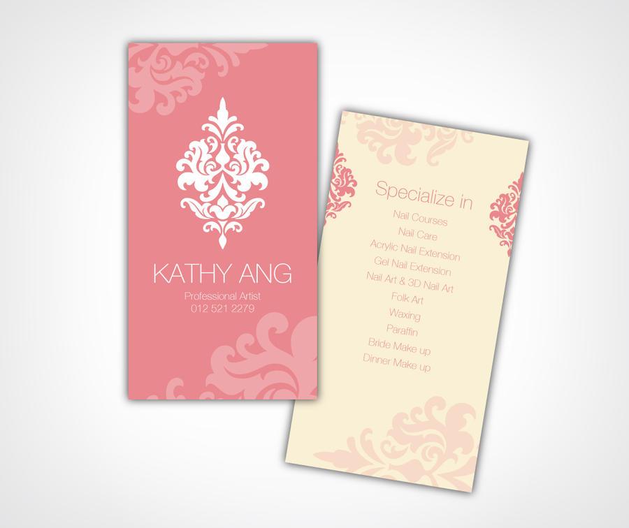 Beautician Business Card Designs