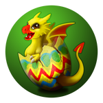Easter Dragon by FrostieGreen
