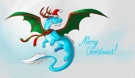 Christmas Dragon by Diterkha