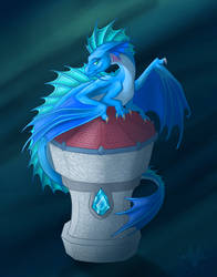 Water Dragon Tower by Diterkha