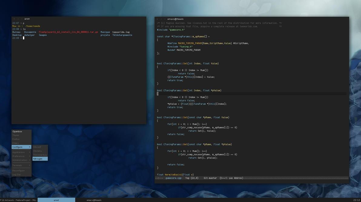 Fedora 15 openbox desktop by dodelria