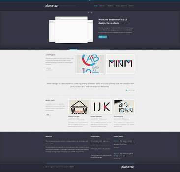 PLANETTA Responsive HTML CSS3 Template by tritube