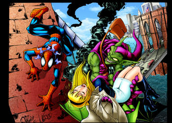 Spiderman Gwen and Greengoblin Colors by eastphoto99