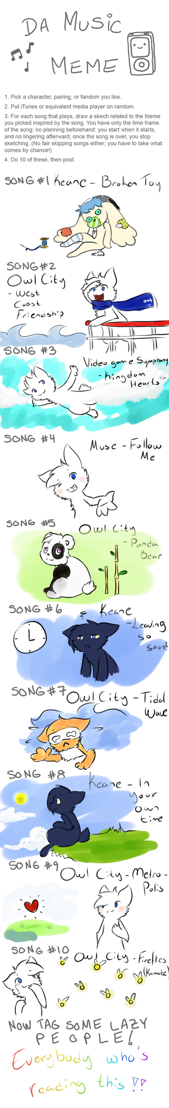 Music meme - Scoli version! by Heise-kun