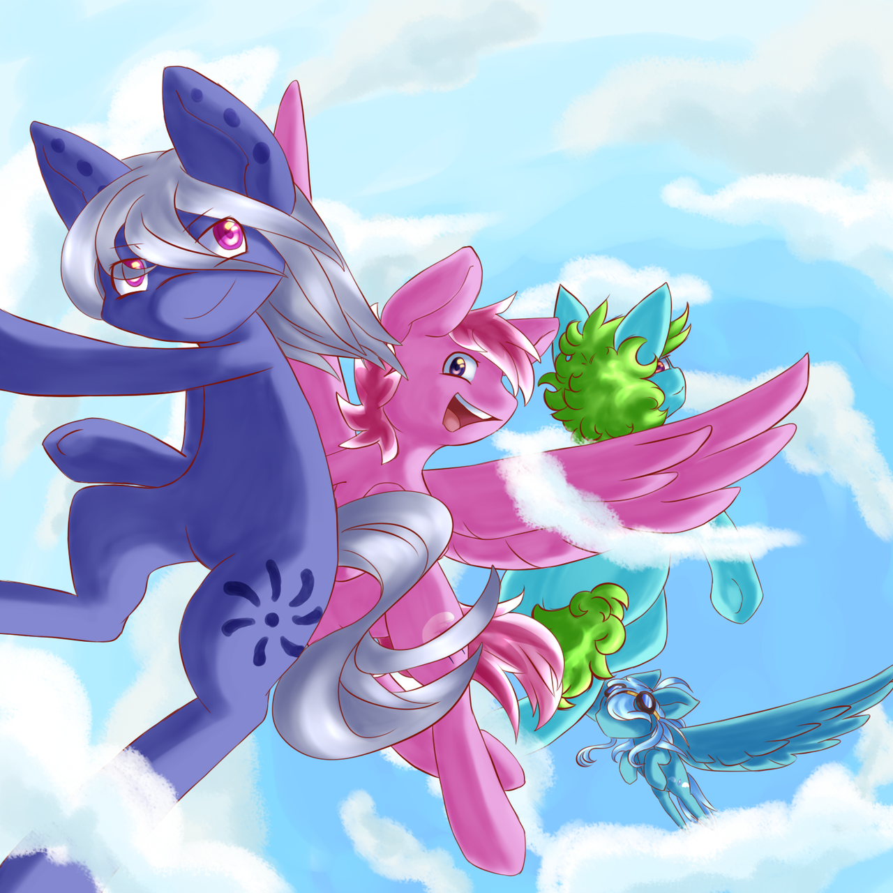 *Casually jumping out of the sky* by Heise-kun