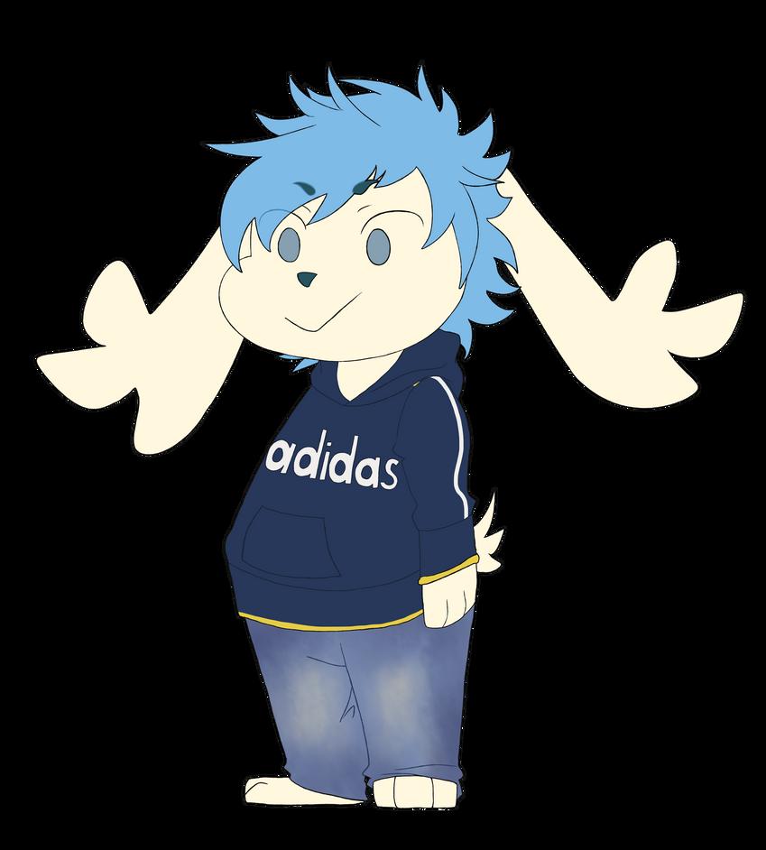 Tiny blue hair by Heise-kun