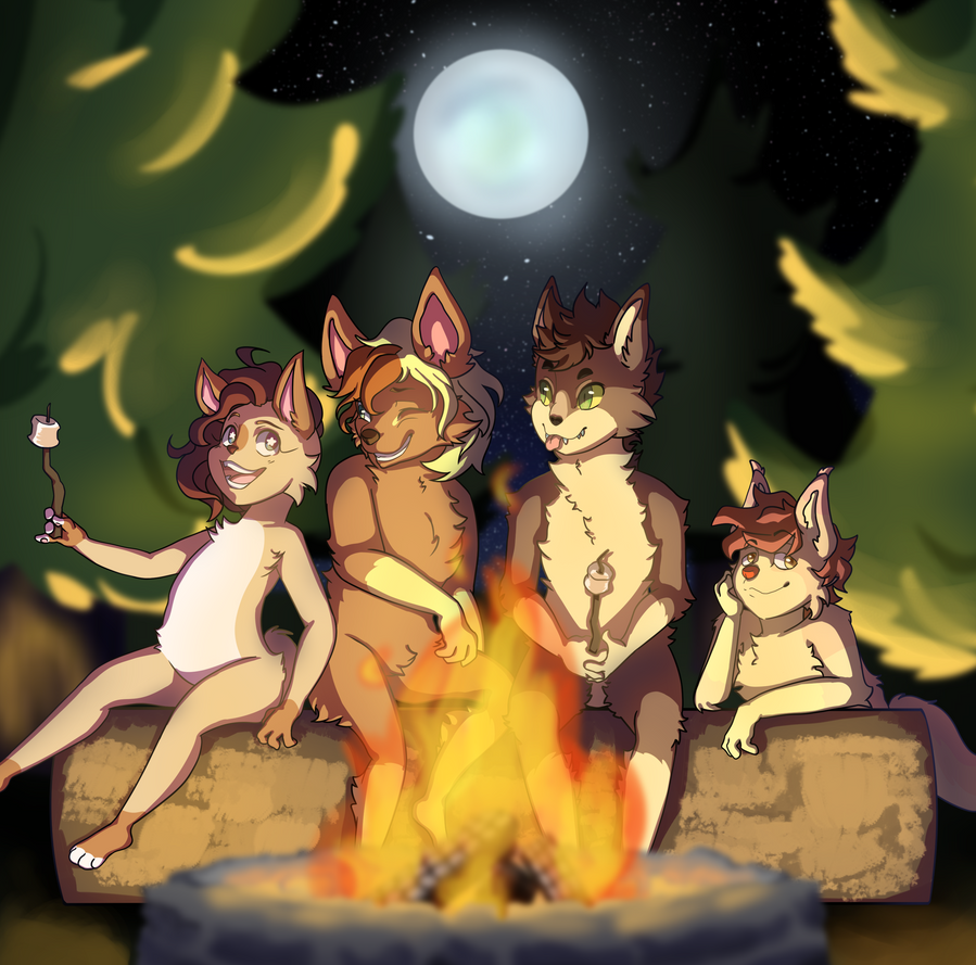 [COMM] Campfire by Heise-kun