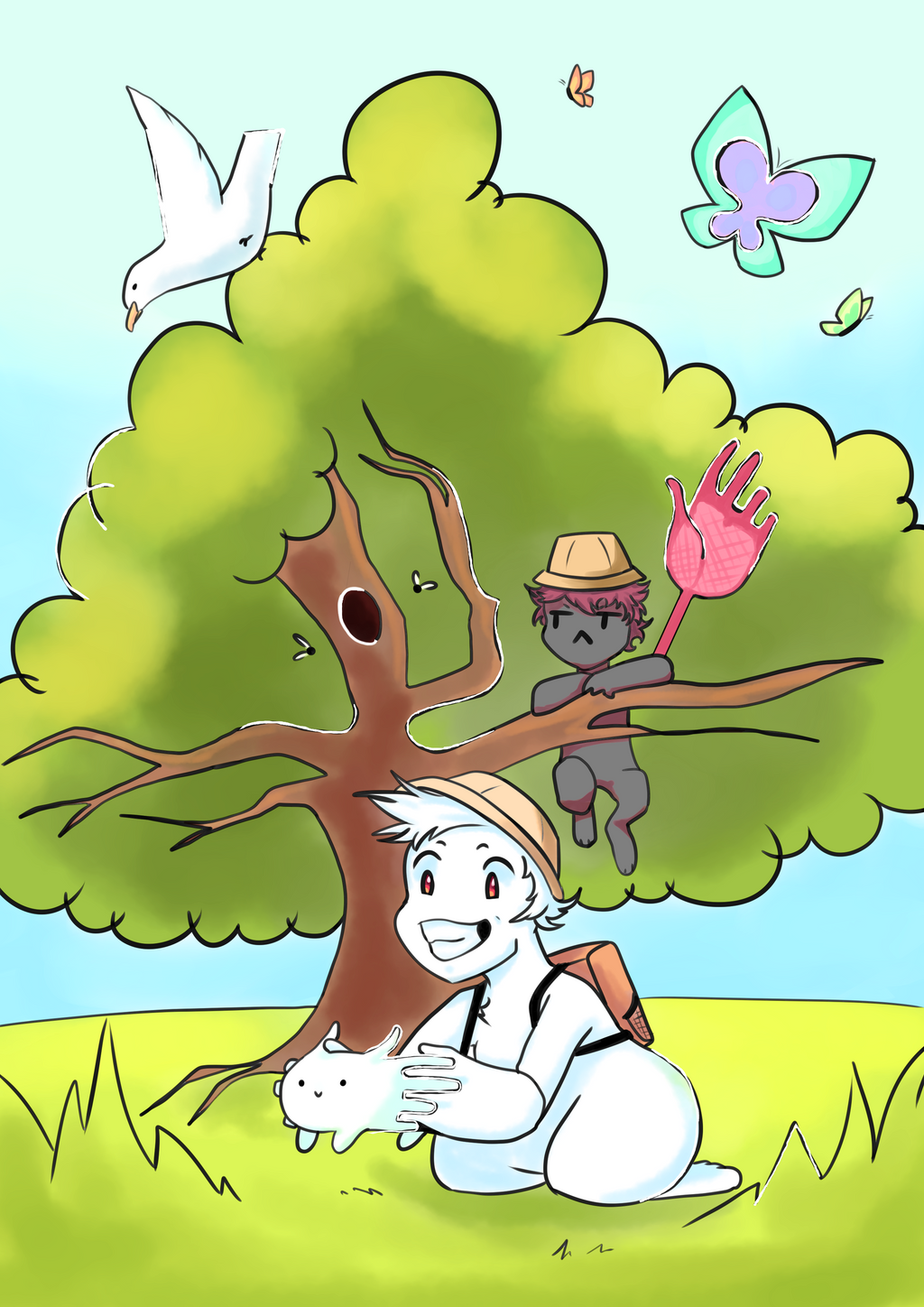 It's a bunny hunting exploration!! by Heise-kun