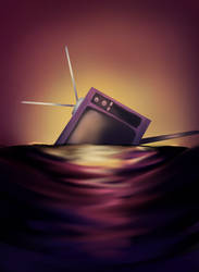 Sunken Tv by Heise-kun