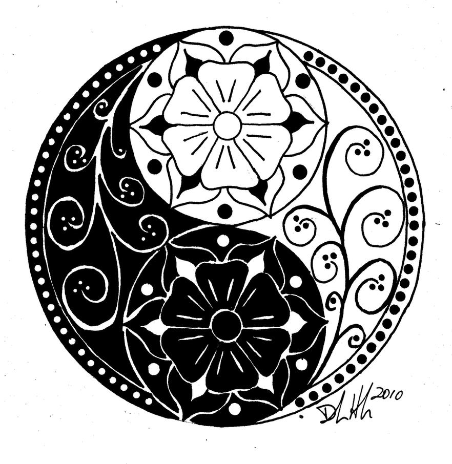 Yin Yang | Flower Tattoo
