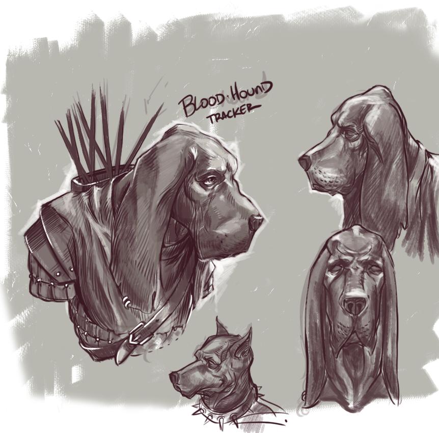 BloodHound sketch by BillingslyN