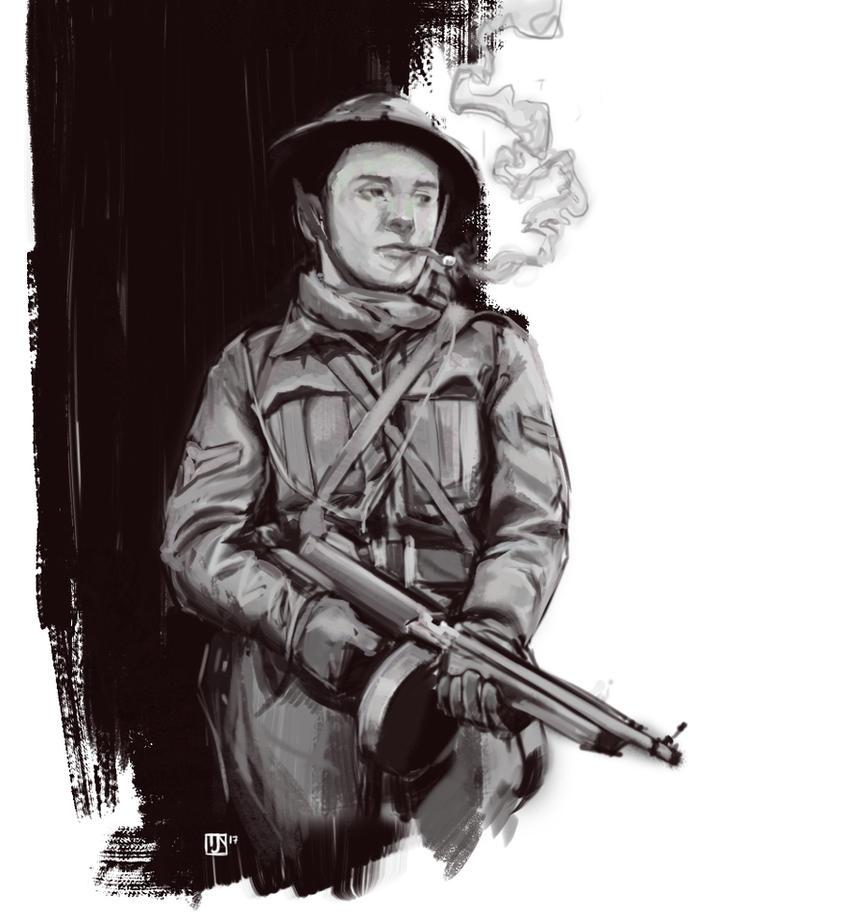 Soldier Sketch/Study by BillingslyN
