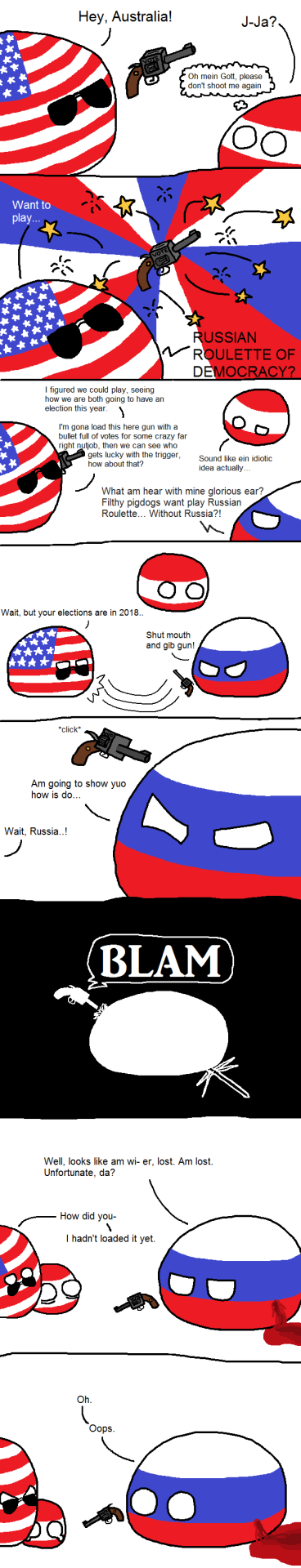 russian roulette by Jawcravescookie