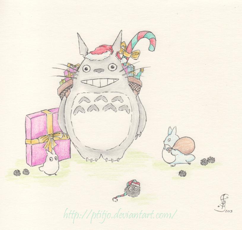 Totoro de Noel by ptitjo on DeviantArt