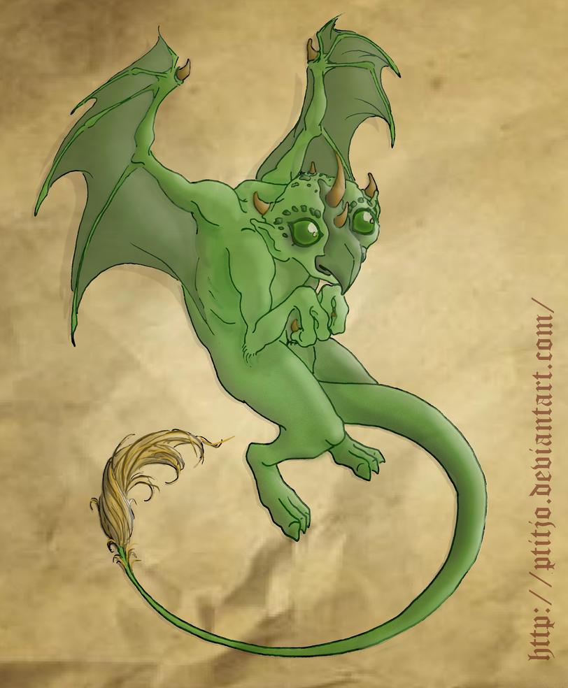 Dragon-gargouille by ptitjo