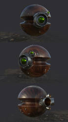 Stylized Steampunk Drone Remote Droid by Sirius1640