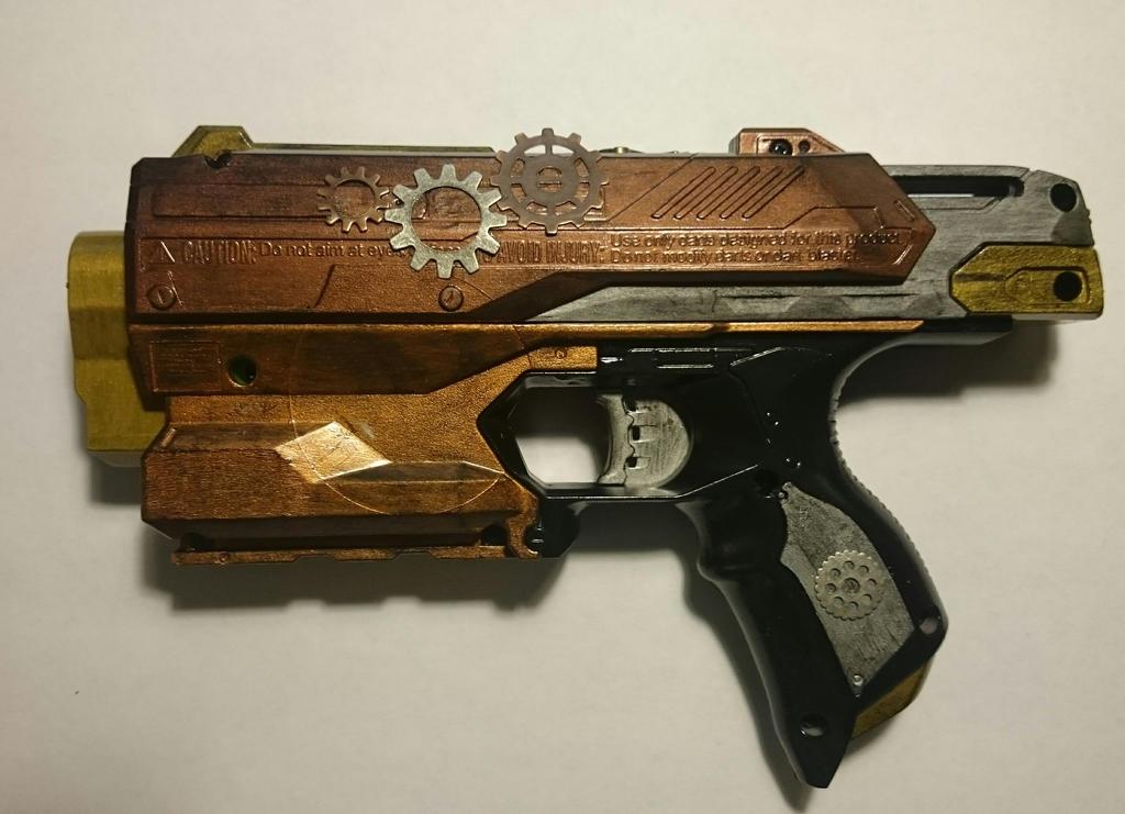 Steampunk Nerf Gun (Side View) by littledarkeyes