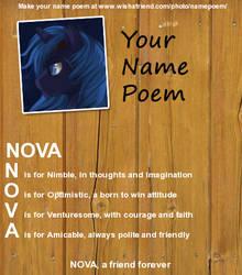 Poem your Name by DiabloGamer