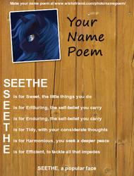 Poem your Name (Nova's birth given name) by DiabloGamer