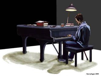 Piano in Black by StarryAugen