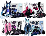 [ closed ] AUCTION|Hooded Demons XIII| by Rhe-Adopts