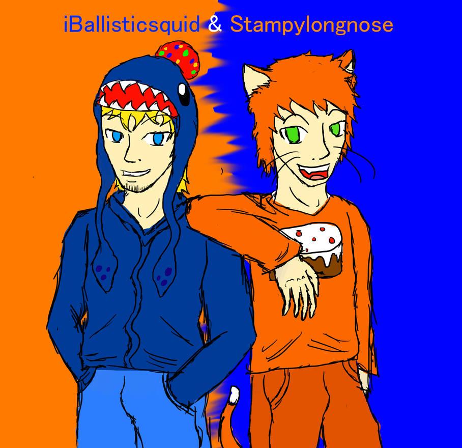 Stampylongnose and iBallisticsquid by Meazigread on DeviantArt
