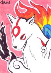 ACEO 2 - Amaterasu by Clopina
