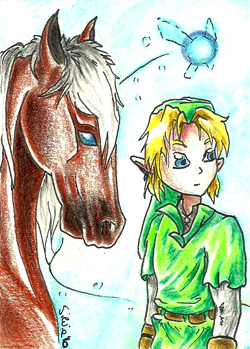 ACEO 18 - Companions by Clopina