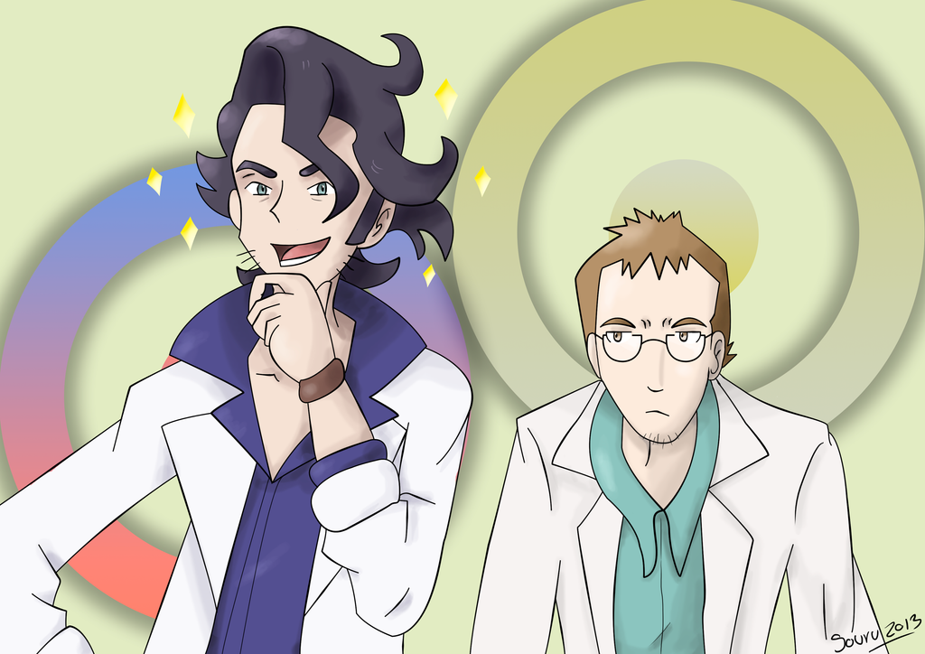 Prof. Sycamore and Prof. Elm Rivality:. by isouru on DeviantArt