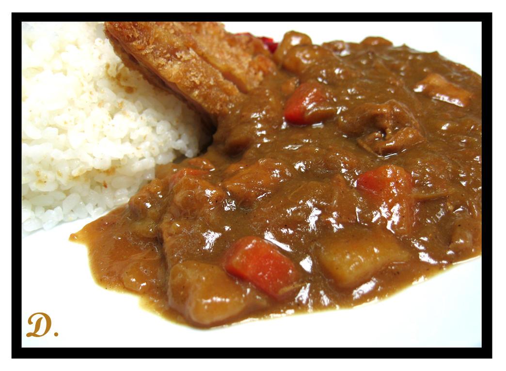 Rice Tonkatsu Curry by Dies-Veneris