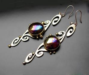 vintage earrings by Qeenjamaika