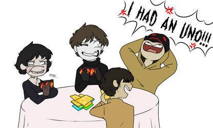 Friendly game of Uno