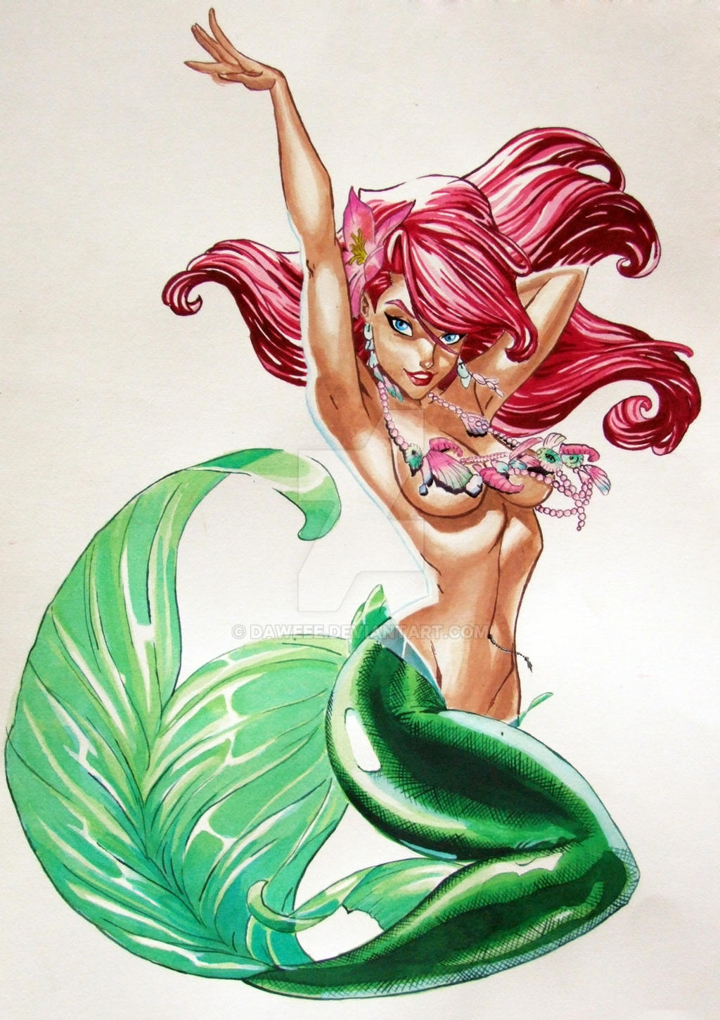 Pin-up Mermaids by Keah on DeviantArt