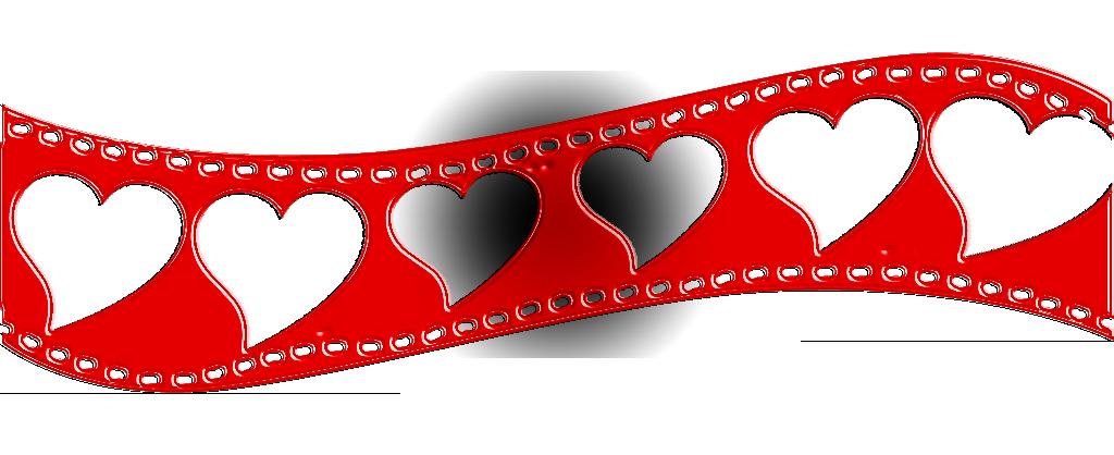 Cinta de cine de corazones san valentin con style by - Corazones de san valentin ...