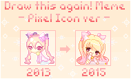 Draw this again Meme - Pixel Icon version by RosaManeki