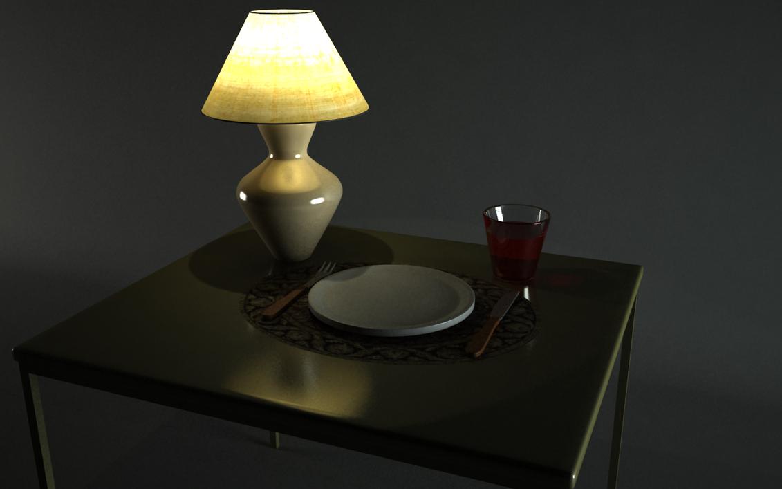 Lamp scene by Zyxakarene